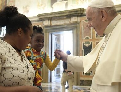 Pope: 'Sharing opens paths of freedom, rebirth and dignity'