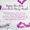 Parish Office: New Years Holiday