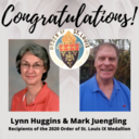 Congratulations to Lynn Huggins and Mark Juengling
