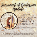 Change in Confession Times