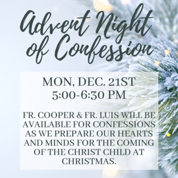 Advent Night of Confession