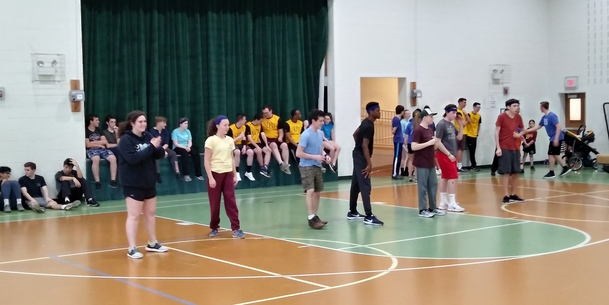 St. Mary's Youth at the Diocesan Dodgeball Tournament!