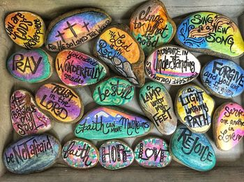 Youth Ministry Rosary Rock Painting