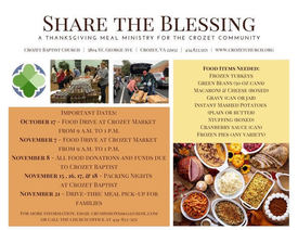 Share the Blessing Thanksgiving Food Drive