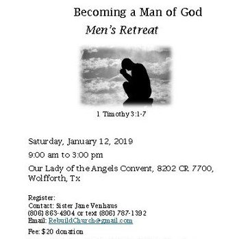 Becoming a Man of God 01-12-2019