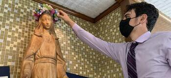 Union Catholic continues tradition with the May crowning of the Blessed Virgin Mary