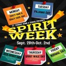 Spirit Week - September 28th - October 2nd