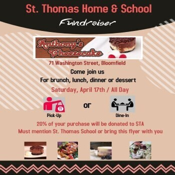 Dine-In Fundraiser - Anthony's Cheesecake