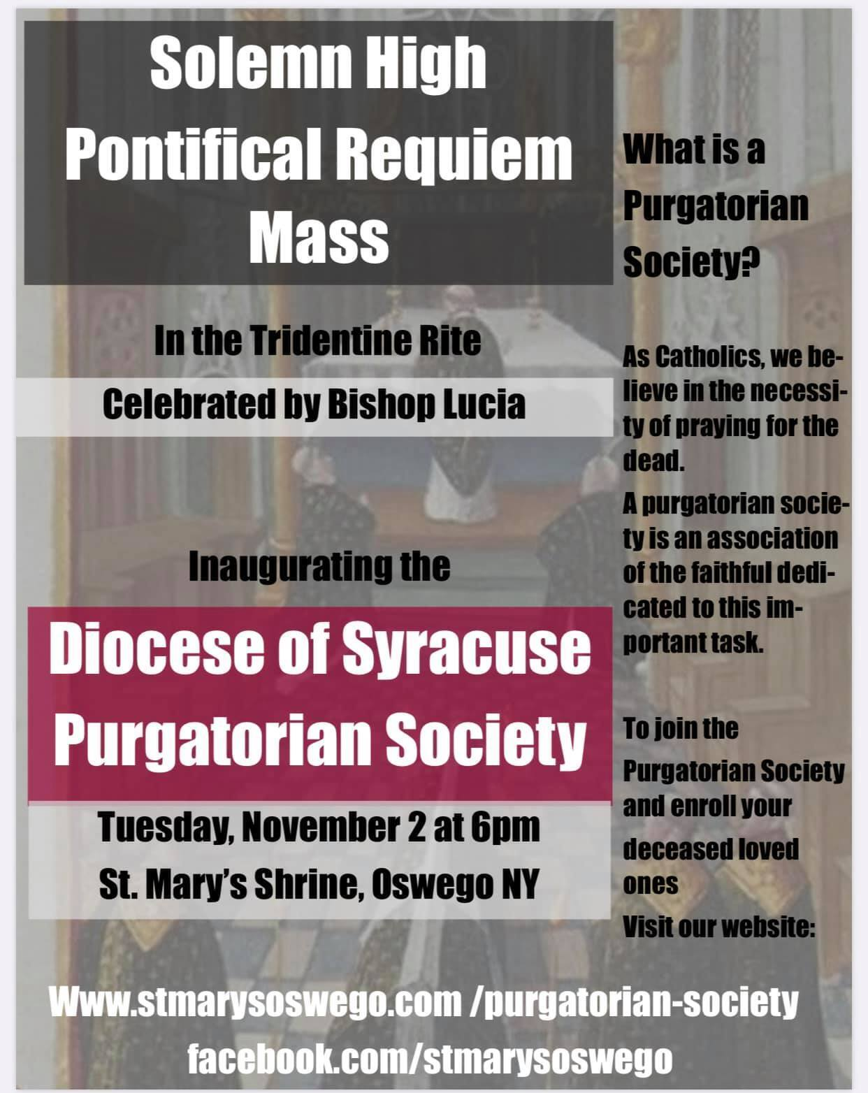 Purgatorian Society. Please click image for more information