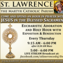 Eucharistic Adoration and Holy Hour OUTDOORS