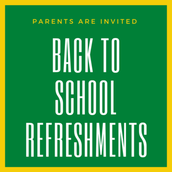 Parents' Back-to-School Refreshments