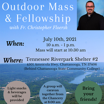 Young Adult Outdoor Mass & Fellowship with Father Floersh