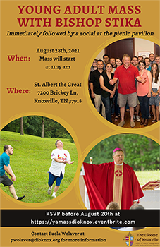 Young Adult Mass with Bishop Stika