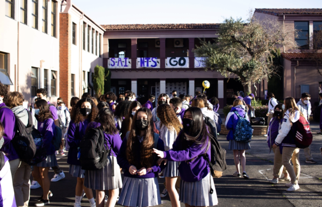 St. Anthony High students return to campus
