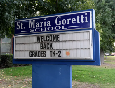 Students return to Long Beach Catholic school with coronavirus protocols in place