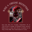 Family of Parishes Wine & Cheese Reception