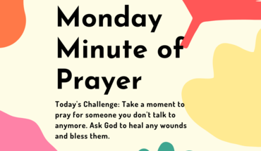Day 5 - Monday Minute of Prayer