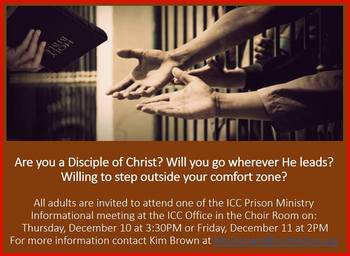 Prison Ministry Informational Session