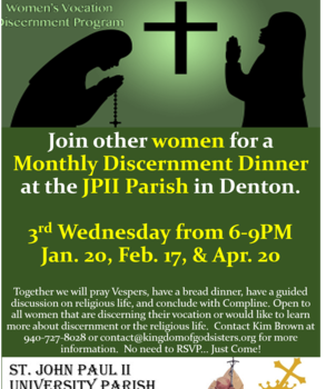 Women's Discernment Dinner