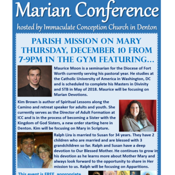 English Parish Mission on Mary