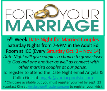 Marriage Ministry Date Night