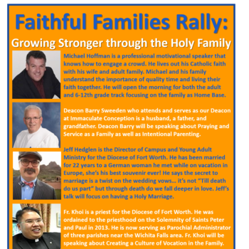 Faithful Families Rally