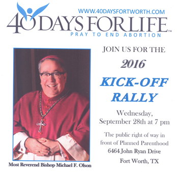 40 Days for Life Kickoff Rally