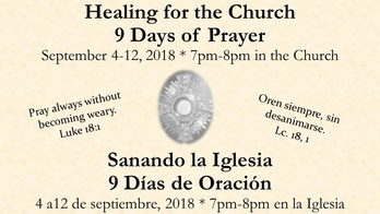 Healing for the Church 9 Days of Prayer/Sanando la Iglesia9 Días de Oración