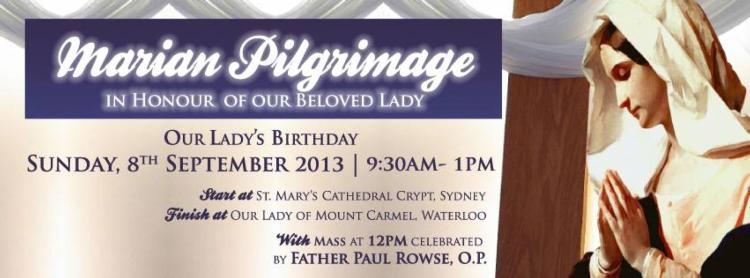 Marian Pilgrimage for Our Lady's Birthday