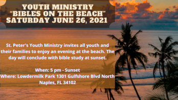 Youth ministry Bibles on the Beach