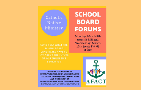 Catholic Native Ministry School Board Forums