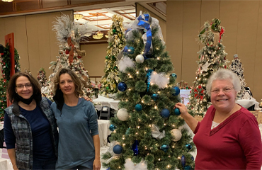 Saint Mary Decorates a Tree at the Gatlinburg Festival of Trees