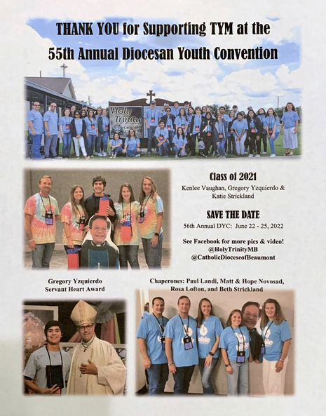 TYM attends 55th Annual Diocesan Youth Convention