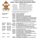 Lent, Holy Week, and Easter 2021