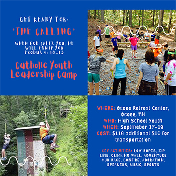 Diocesan Youth Leadership Camp Sept. 17-19