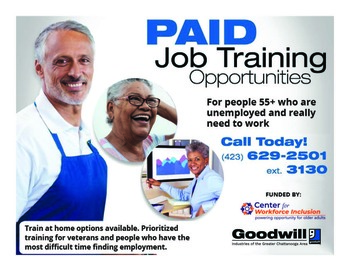 Paid Job Training Opportunity for People 55+