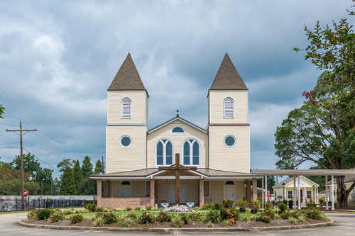Exterior of Holy Rosary, St. Amant