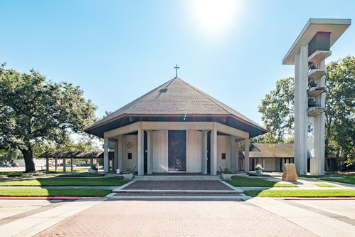 Exterior of Our Lady of Mercy, Baton Rouge