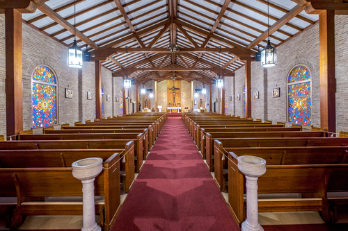 Interior of St. Frances Xavier Cabrini, Livonia