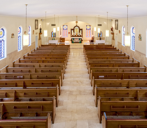 Interior of St. Stephen the Martyr, Maurepas