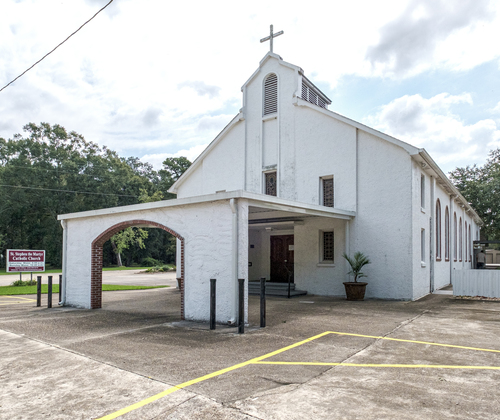 Exterior of St. Stephen the Martyr, Maurepas