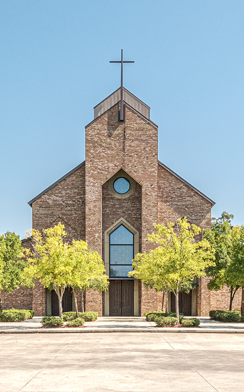 Exterior of Most Blessed Sacrament, Baton Rouge