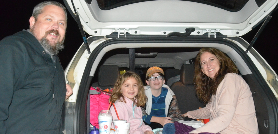Families enjoy a night under the stars