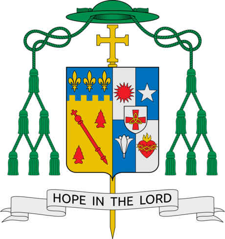 Coat of Arms of Most Rev. Michael G. Duca, Bishop of Baton Rouge