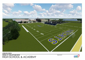 Shrine athletic Field - <div>   Building Our Future Now </div>