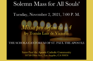 Solemn Mass for All Souls' Day