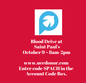 Blood Drive in the Parish Center