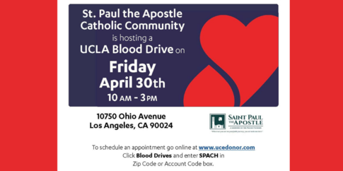 Life-saving Blood Drive, April 30