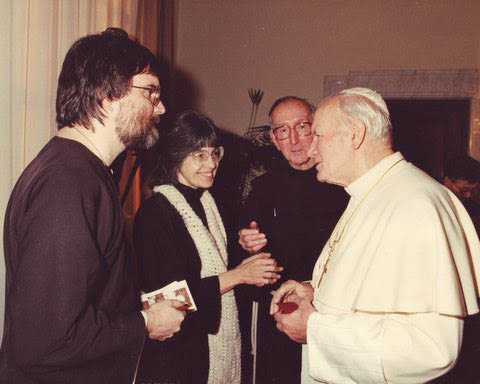 John Michael and Viola with Pope John Paul II