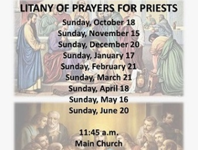 Litany of Prayers for Priests